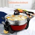 220В/50Гц 5л электрическая плита антипригарная сковорода электрическая кастрюля вок сковорода многофункциональная для жарки кастрюль сковор...