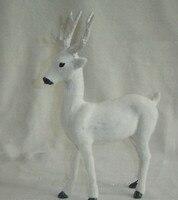 20 27CM White Deer Hard Model Polyethylene Furs Handicraft Figurines Miniatures Decoration Toy Gift A2853