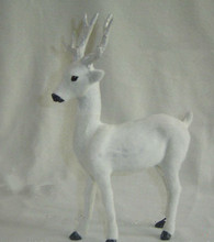 20*27CM white deer hard model,polyethylene&furs handicraft Figurines&Miniatures decoration toy gift a2853