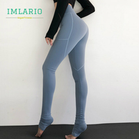 Imlario Women High Waist Leggings Yoga Extra Long Fitness Pants Softs Tretch Over The Heel Gym Leggings Sports Training Tights