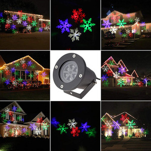 Image 5 - עמיד למים נע Snowflake לייזר מקרן אור חג המולד שנה החדשה LED שלב אור חיצוני שלג מסיבת גן נוף מנורה