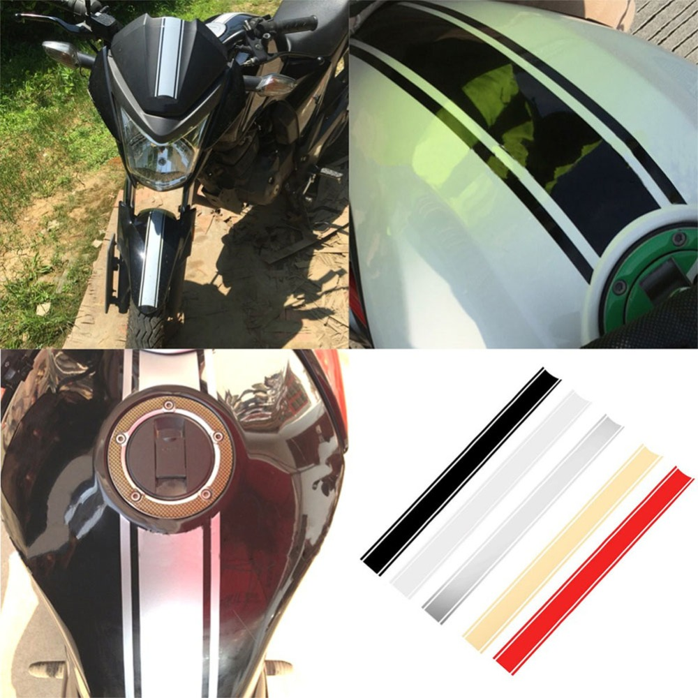 1pcs 50 x 4 5 cm Motorcycle Tank Cowl Vinyl Stripe Pinstripe Decal Sticker For Cafe Racer Moto car styling high quality in Decals Stickers from Automobiles Motorcycles
