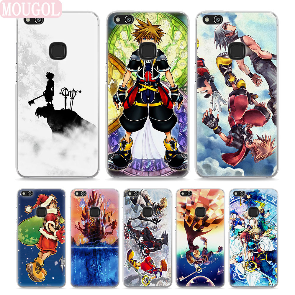 MOUGOL Anime Kingdom Hearts Style Thin transparent phone Cover Case for Huawei P10 P10lite P8 P9 lite Mate10 9