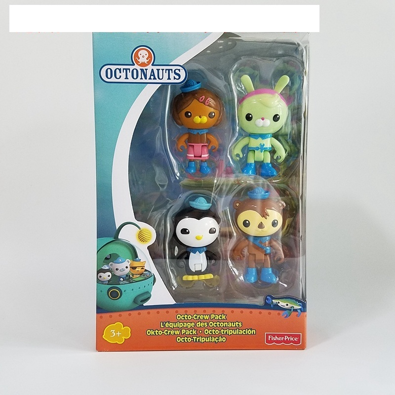 original Octonauts action figures 4 figure pack child toy gift original octonauts octonauts marine animals creatures figures toy sea turtle urchin white tip shark child toys minifigures