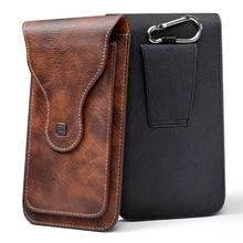 """الهاتف الخليوي العالمي ل 4.0 """" 6.3"""" كبير محفظة من جلد PU حقيبة حزام كليب حلقة معلقة عمودي الوجه الحقيبة آيفون غالاكسي"""