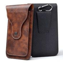 """Evrensel cep telefonu için 4.0 """" 6.3"""" büyük PU deri cüzdan kılıf çanta kemer klipsi asılı halka dikey kapak kılıfı iPhone Galaxy için"""