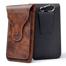 "Universal Cell Phone for 4.0"" 6.3"" Large PU Leather Wallet Case Bag Belt Clip Hanging Ring Vertical Flip Pouch for iPhone Galaxy"