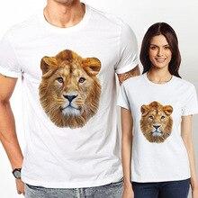 Summer Fashion Halloween Funny Mens Lion T Shirt Printed Hip Hop Men Women T-shirts Cotton O-neck Short Sleeve Tees Casual Tops
