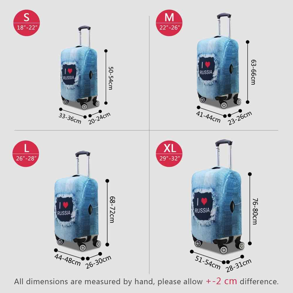 Dispalang Denim Pattern Travel Luggage Protective Covers for 18-30 Inch Trolley Case Elastic Stretch Waterproof Suitcase Cover