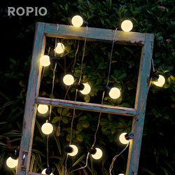20 LED Globus Girlande Party Ball string licht outdoor led Weihnachten Lichter Anschließbar fee licht hochzeit garten party girlande