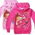 Trolls de Ropa ropa de Abrigo y Abrigos de Dibujos Animados Niños Niñas Cardigan Bebé Niña Abrigos Y Chaquetas Abrigos Niño