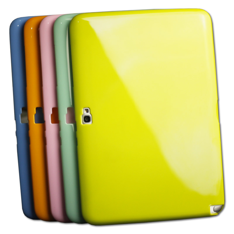 цена на Soft Back Case Slim TPU Silicone Rubber Case Cover For Samsung Galaxy Note 10.1