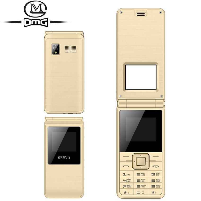 Original SERVO Russian keyboard Flip mobile phone Dual SIM 1 77 Big Fonts FM MP3 old