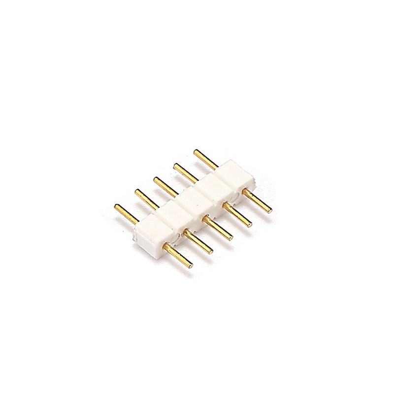 10pcs 5 Pin Male Connectors Adapter Free Soldering For SMD 5050 RGBW RGBWW LED Strip Lights 10pcs 12mm 10mm 5 pin rgbww led strip connector free welding for smd 5050 rgbw led strip lights