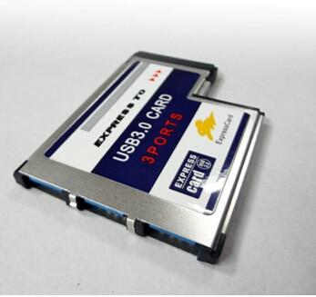 3 Port Hidden Inside USB 3.0 USB3.0 to Expresscard Express Card 54 54mm Adapter Converter FRESCO LOGIC Chipset FL1100