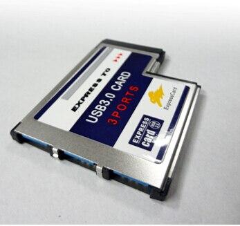 3 Port Versteckt USB 3.0 USB3.0 zu Expresscard Express Card 54 54mm Adapter Konverter FRESKO LOGIC Chipset FL1100