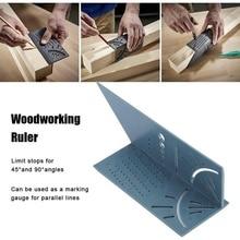 Новое поступление деревообрабатывающий манометр линейка 3D Mitre угол измерения квадратный измерительный инструмент 45 градусов и 90 градусов с плотником карандаш