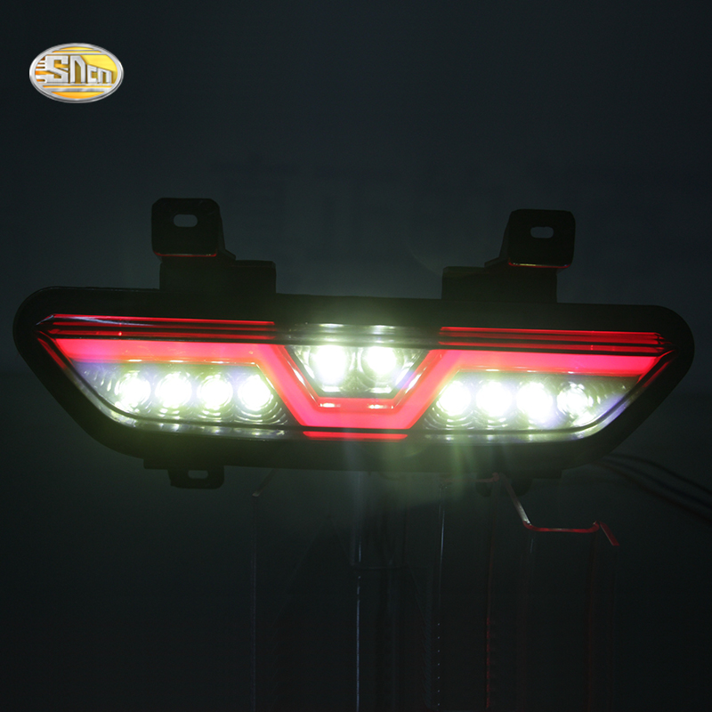 SNCN LED Rear bumper lights for Ford Mustang 2017 2018 Rear braking lamp reversing light Back-up light rear fog lamp Toyota Land Cruiser