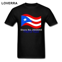 waving puerto rico flag and name menu0027s tshirt summer oneck man tshirt
