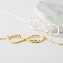 HIYONG Personalized Name Necklace Customized Nameplate Necklaces Custom Stainless Steel English Style Jewelry Gifts