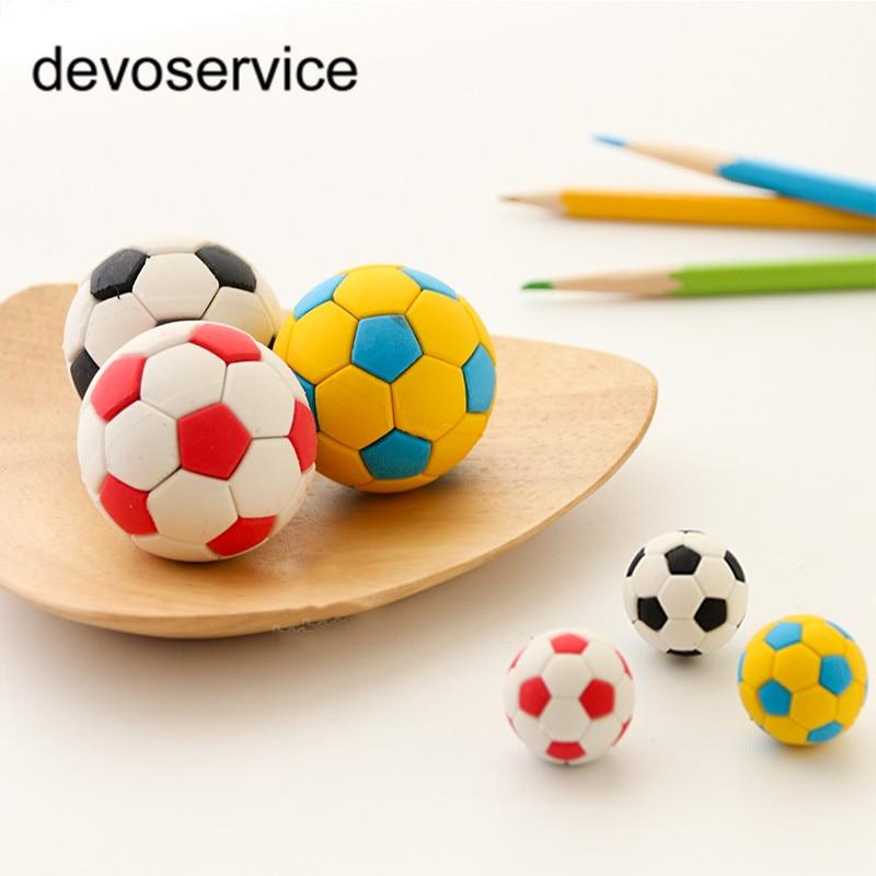 Novelty Removable Football Shape Eraser Rubber Erasers Gomme Material Escolar 3D Silgi Borrachas Kawaii Cative School Supplies