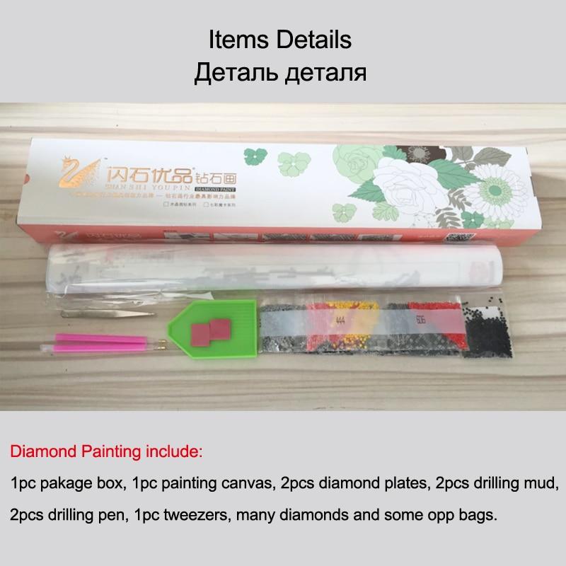 Flores de rosa Bordado de Diamante Completo Pintura Diamante Diamante - Artes, artesanía y costura - foto 6