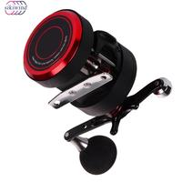 10+1BB All Metal Bearings Fishing Reel Trolling Cast Drum Wheel with Electric Depth Counting Multiplier body High Quality
