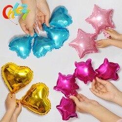 50 pçs 5 polegada mini coração pentagrama folha balões decoração do quarto de casamento festa de aniversário do bebê decorações de natal suprimentos crianças brinquedos