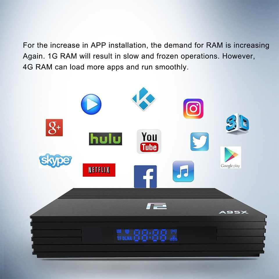 2019 Newest Android 9 0 TV BOX A95X F2 Amlogic S905X2 4K Smart TV Player  Box 4GB 64GB 2 4G&5G Dual WIFI PK X96 Mi Set-top Box