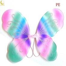 13 цветов; красивое нарядное платье на Хэллоуин с крыльями бабочек и Ангелом Феи для девочек
