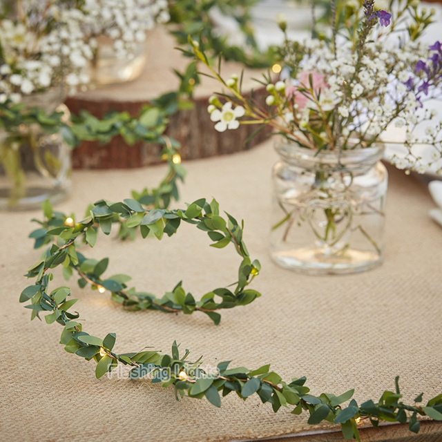 Aliexpress Com Buy Rustic Wedding Foliage Led Copper Wire String
