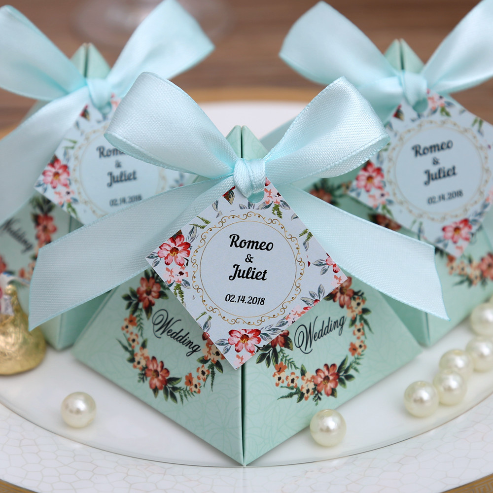 Bridal Party Wedding Gifts: 50 Pcs Free Shipping Pink/ Purple/ Tiffany Blue Floral