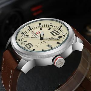 Image 2 - 2019 Luxe Merk Naviforce Datum Quartz Horloge Mannen Casual Militaire Sport Horloges Lederen Horloge Mannelijke Relogio Masculino Klok