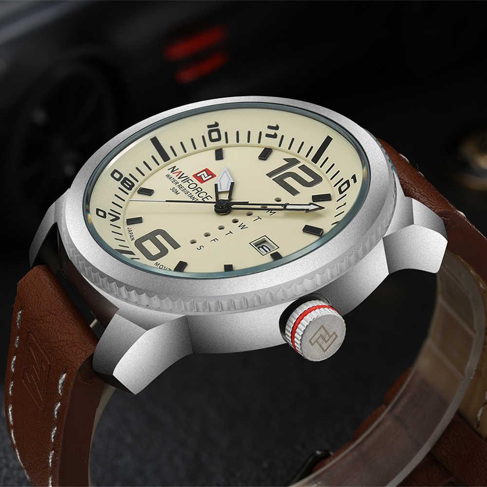 2019แบรนด์หรูNAVIFORCEนาฬิกานาฬิกาควอตซ์Casualกีฬาทหารนาฬิกาหนังนาฬิกาข้อมือชายRelogio Masculinoนาฬิกา