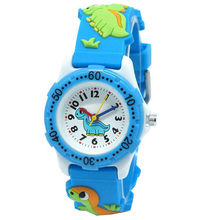 FUNIQUE Children Dinosaur Quartz Casual Reloges Feminino Whale 3D Cartoon Silicone Wristwatches 4 Color Kid Watch Clock Watch(China)