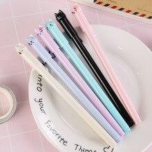 ¡Venta al por mayor! 60 uds. De bolígrafos de gel kawaii con gatito bonito, bolígrafos para la escuela, regalo para estudiantes y niños, colores variados, Envío Gratis