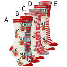 Unisex skarpety świąteczne Casual Cute Cartoon grubość pończochy skarpetki do spania śmieszne skarpetki mujer nowy rok 2020 navidad w magazynie tanie tanio COTTON