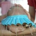 3 colores casquillo del champú del bebé gorro de ducha ajustable proteger suave sombrero, bebé y niño ducha baño lavar el cabello protege 0 ~ 2 años de edad niños