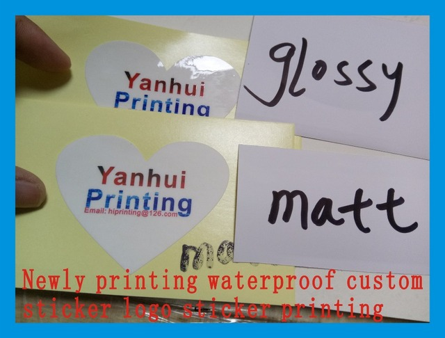 Newly printing waterproof custom sticker logo sticker printing