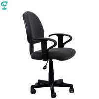 95154 Dark Grey Office Chair for employees Barneo K-102 fabric gas lift plastic armrests roller free shipping in Russia