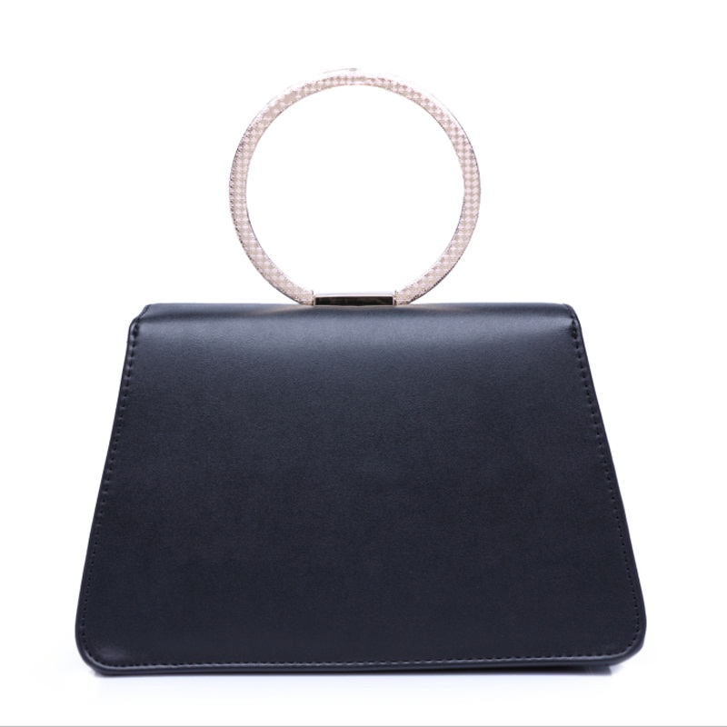 SWDF-2018 New British Style Women Messenger Bag High Quality PU Leather Bags Handbags Personalized Metal Ring Portable 3 Colors swdf 2016 new british style women backpacks high quality pu leather ladies backpack women s hollow leaves bags 3 colors optional