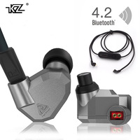 Orginal KZ ZS5 2DD 2BA HIFI Monitor Earphones DJ Hybrid Detach MMCX Earphones FOUR Dynamic Noise