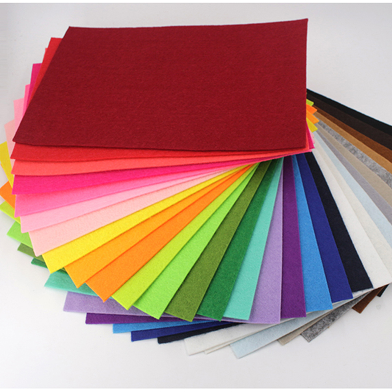 10pcs 20x30cm Vilt Stof Non Woven Felt Fabric Of Sewing Dolls Crafts Material Pack For DIY Handmad Home Decoration 2mm Thickness