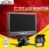 7 Inch Color TFT LCD12V Car Monitor Rear View Headrest Monitor With2 Channels Video Input For