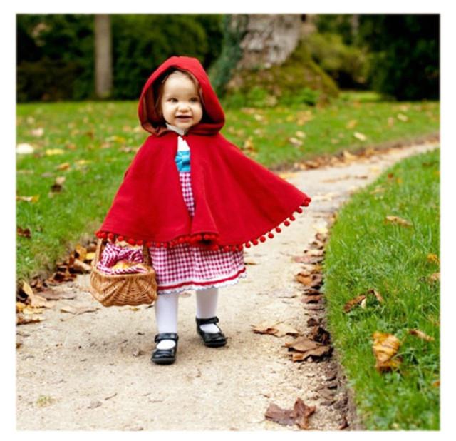 Niñas abrigo de otoño invierno de los bebés del cabo rojo embroma la ropa Borlas beads nke cazadora manteau fille ropa ninos doudoune fille