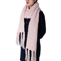 Hot Sale 2017 New Fashion Style Unisex Winter Knitted Handcrafted Scarves Wool Collar Neck Warmer Woman
