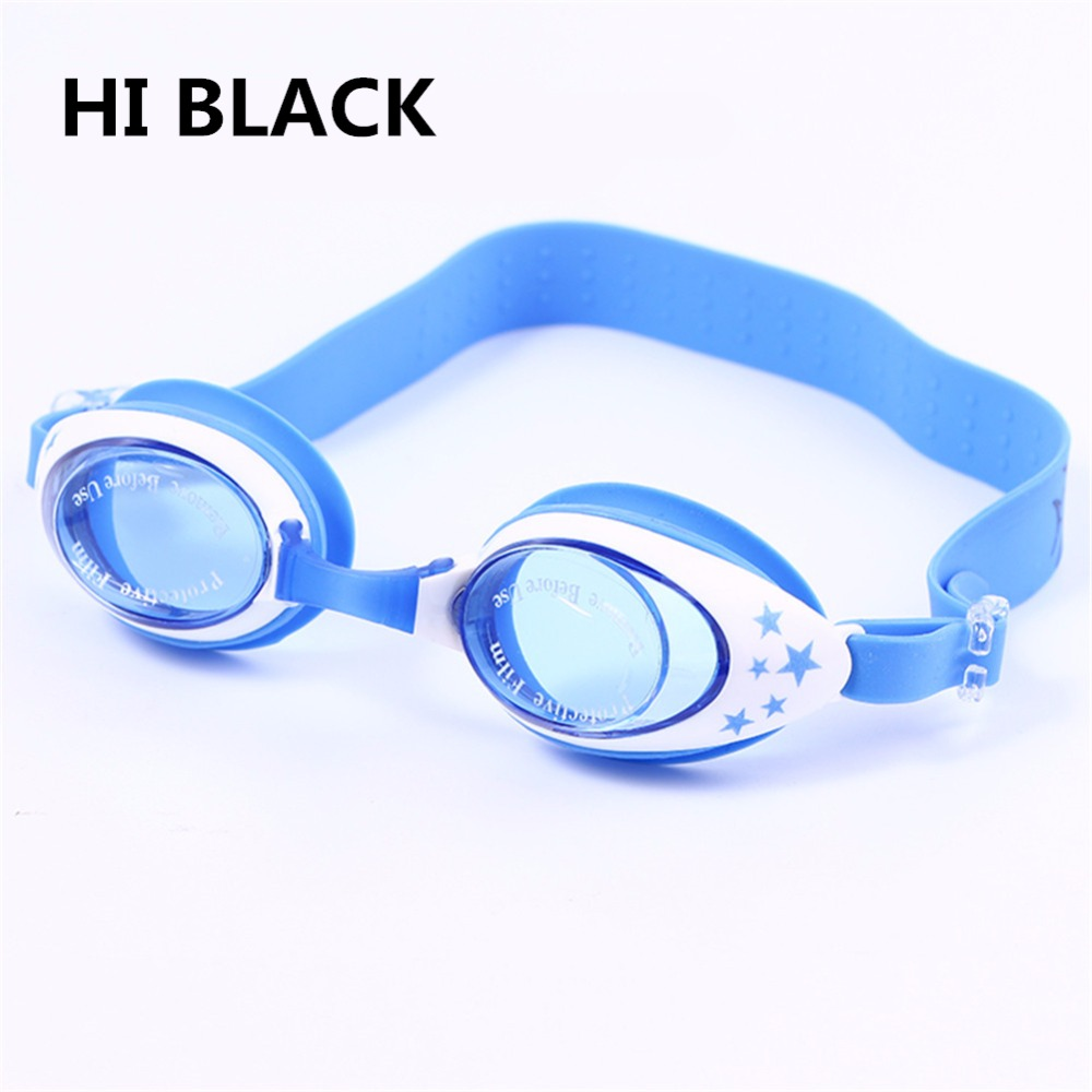 Summer Colorful Silicone Vanntette Anti-Fog Barn Kids Boys Girls Svømming Goggles Swim Eyewear / Svømming Briller Gratis frakt