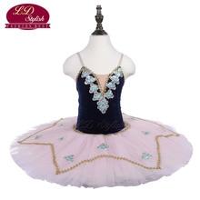 Girls Blue Ballet Tutu The YAGP Performance Stage Wear Kids Pink Professional Dance Competition Women Skirt