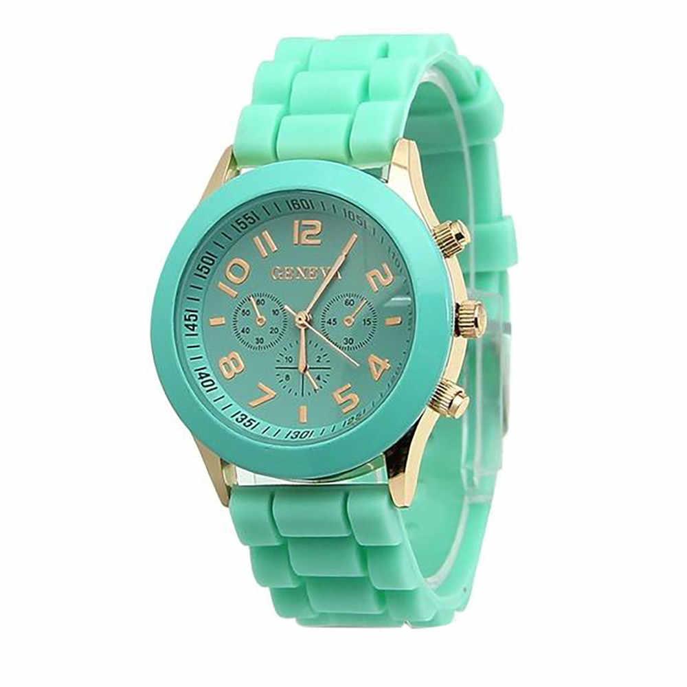 2019 הכי חדש Nueva ז 'נבה נשים שעונים ספרות רומית סיליקון ג' לי ג 'ל קוורץ אנלוגי שעון יד גברים שעון Reloj Mujer