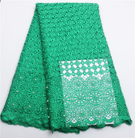 High Quality African Water Green Cord Lace Fabric 2016 Latest African Guipure Lace Nigeria Guipure Fabric
